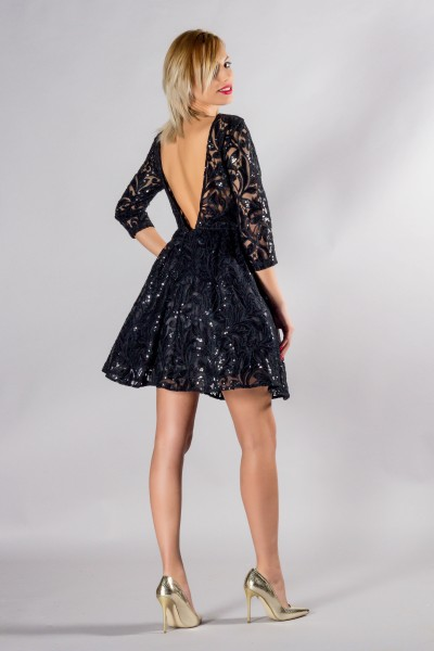 TINUTA DE SEARA SEQUIN BLACK