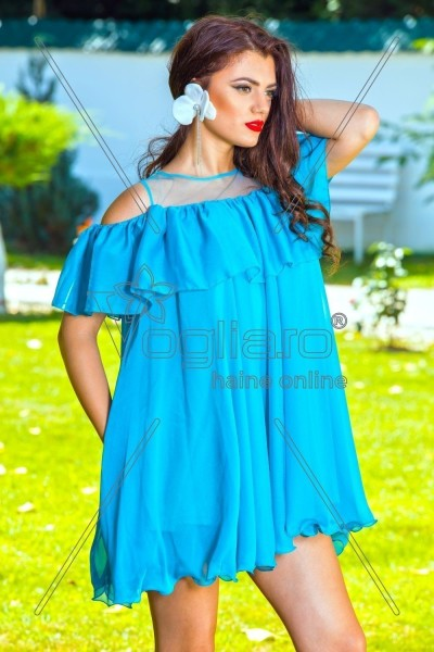 ROCHIE SCURTA VOAL TURQUOISE ARTISTA
