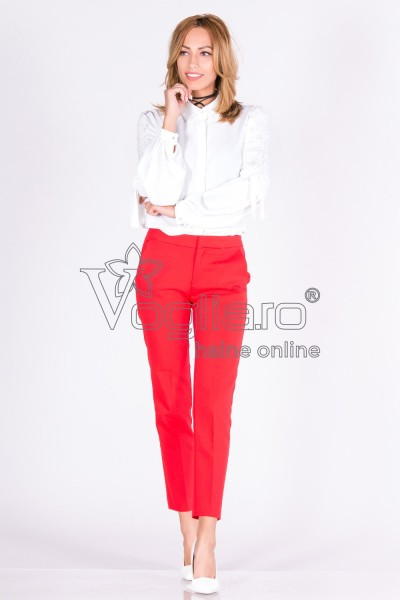 PANTALONI DAMA OFFICE RED