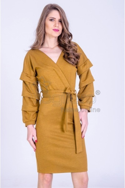ROCHIE CASUAL MUSTAR  DIN TRICOT ELASTIC