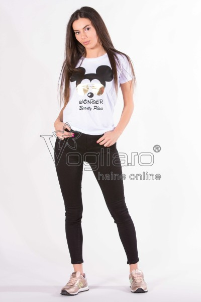 TRICOU CU MICKEY MOUSE ALB