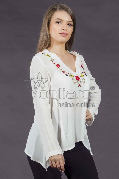 BLUZA DAMA IVOIRE IN COLTURI VB203
